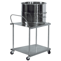 TABLE TROLLEY BOWL TROLLEY 60L ø380mm to Conti planetary mixer {Conforms with: EU 1935/2004, EU 2023/2006}
