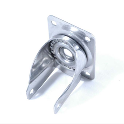 CASTOR BRACKET ø100mm Top plate Stainless steel Plate 100x85mm Hole c-c80x60mm Hub ø8mm