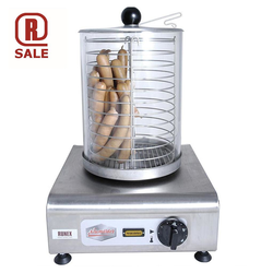 HOT DOG HEATER Glass cylinder ø200x270mm Stainless 1~230VAC 50Hz 0,7kW Max 40 wiener sausages 60g