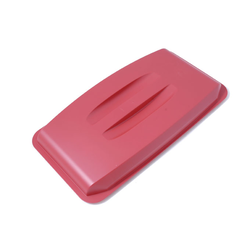 LID  60L Red  Plastic to bin 60L rectangular