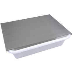 LID to 25L bin Stainless steel 3-sided 1 long side open To ZTS925, 255-31131000