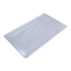 PERFORATED BAKING TRAY GN1/1 STD-type Aluminium 1,4mm Perf ø3,0mm Long sides crease