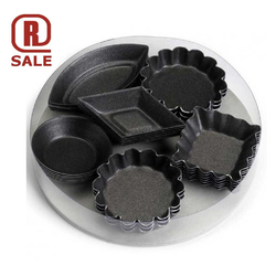 PETIT FOUR MOULDS 6 models 5 of each Steel Nonstick Fluoroplastic coated {Conforms with: EU 1935/2004, EU 2023/2006, Warning: PFAS}