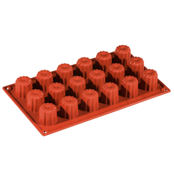 SILICONE MOULD GN1/3 CANELÉ BORDEAUX  24ml (18x ø35x35mm)