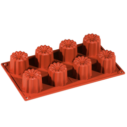 SILICONE MOULD GN1/3 CANELÉ BORDEAUX  70ml (8x ø56x50mm)