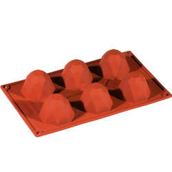 SILICONE MOULD GN1/3 DIAMOND  80ml (6x ø68x45mm)