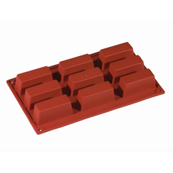 SILICONE MOULD GN1/3 RECTANGULAR 62ml (9x 80x30x30mm)