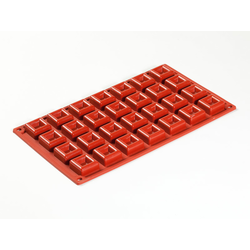 SILICONE MOULD GN1/3 SQUARE SAVARIN   9,5ml (28x 30x30x13mm)