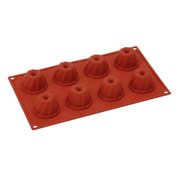 SILICONE MOULD GN1/3 GUGELHUPF  50ml (8x ø52x32mm)