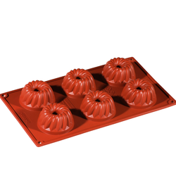 SILICONE MOULD GN1/3 GUGELHUPF  70ml (6x ø60x33mm)