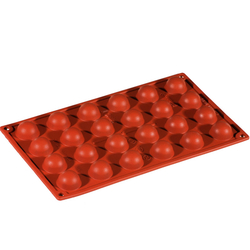 SILICONE MOULD GN1/3 HALF SPHERE   8,5ml (24x ø30x15mm)