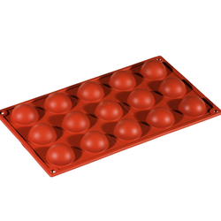 SILICONE MOULD GN1/3 HALF SPHERE  17ml (15x ø40x20mm)