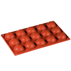 SILICONE MOULD GN1/3 HALF SPHERE  33ml (15x ø50x23mm)