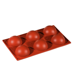 SILICONE MOULD GN1/3 HALF SPHERE  89ml (6x ø70x35mm)