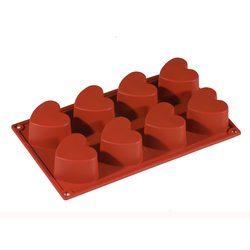 SILICONE MOULD GN1/3 HEART  97ml (6x 65x60x35mm)