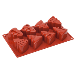 SILICONE MOULD GN1/3 FIR TREE 110ml (8x 70x58x44mm)