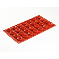 SILICONE MOULD GN1/3 OVAL SAVARIN   7,5ml (28x 35x25x13mm)