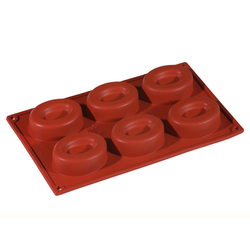 SILICONE MOULD GN1/3 OVAL SAVARIN  74ml (6x 80x60x25mm)