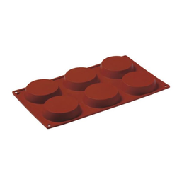 SILICONE MOULD GN1/3 ROUND 90ml (6x ø80x18mm)
