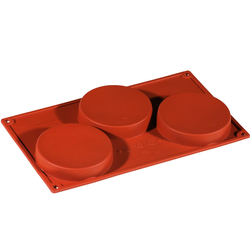 SILICONE MOULD GN1/3 ROUND 160ml (3x ø103x20mm)