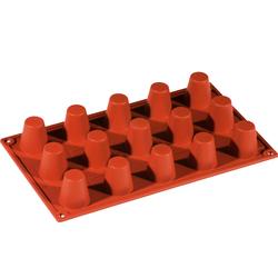 SILICONE MOULD GN1/3 ROUND BABA  25ml (15x ø35x38mm)