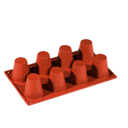 SILICONE MOULD GN1/3 ROUND BABA  97ml (8x ø55x60mm)