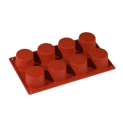 SILICONE MOULD GN1/3 ROUND CYLINDER  89ml (8x ø60x35mm)