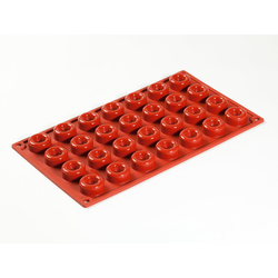 SILICONE BAKING MOULD PAN GN1/3 ROUND SAVARIN   7,5ml (28x ø30x13mm)   {Conforms with: EU 1935/2004, EU 2023/2006}