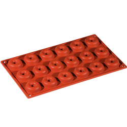 SILICONE BAKING MOULD PAN GN1/3 ROUND SAVARIN  12ml (18x ø41x12mm)   {Conforms with: EU 1935/2004, EU 2023/2006}