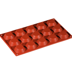 SILICONE BAKING MOULD PAN GN1/3 ROUND TARTELETT  12ml (15x ø45x10mm)   {Conforms with: EU 1935/2004, EU 2023/2006}