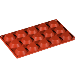 SILICONE BAKING MOULD PAN GN1/3 ROUND TARTELETT  20ml (15x ø50x15mm)   {Conforms with: EU 1935/2004, EU 2023/2006}