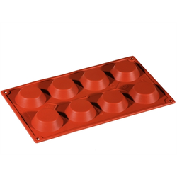 SILICONE BAKING MOULD PAN GN1/3 ROUND TARTELETT  35ml (8x ø60x17mm)   {Conforms with: EU 1935/2004, EU 2023/2006}