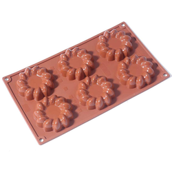 SILICONE BAKING MOULD PAN GN1/3 St HONORÉ  55ml (6x ø80x21mm)   {Conforms with: EU 1935/2004, EU 2023/2006}