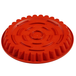 SILICONE MOULD ROUND FLUTED ø300x30mm 1,85L With rim