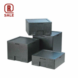 THERMO CONTAINER & LID 3x GN1/3 170mm EPP-plastic 2 cooling blocks For 3 GN1/3 External 528x338x170mm