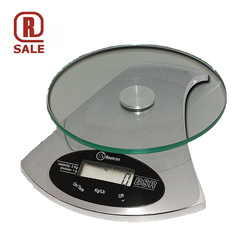 SCALE  2kg/1g Kitchen scale BSR ø160mm Chrome 9V battery