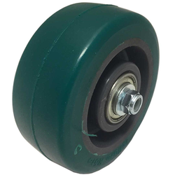 WHEEL ø100x40mm PA-rim PU-wheel Double ball bearings Temp -20..+60°C Payload 230kg Complete with threadguards, spacers, bolt, nut