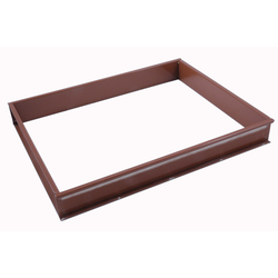 BAKING FRAME TIN PAN MOULD 40x60 Internal 350x520x50mm Aluminium Nonstick Silicone rubber coated RilonElast Red {Conforms with: EU 1935/2004, EU 2023/2006, EN AW-3003}