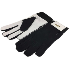 GLOVES WORK GLOVES Leather Top of fabric With lining Velcro locking