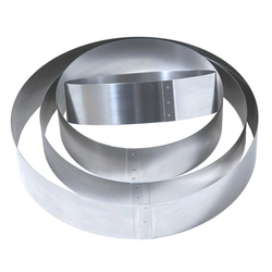 CAKE RING ø130x50mm Stainless steel