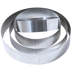 CAKE MOUSSE RING ø280x50mm Stainless steel {Conforms with: EU 1935/2004, EU 2023/2006, EN 1.4310}
