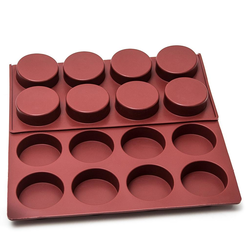 FLEXIPAN SILICONE BAKING MOULD PAN40x60 ROUND MUFIN coned 24x ø67x39mm Silmaé (Made in France) 110ml -25..+260°C {Conforms with: EU 1935/2004, EU 2023/2006}