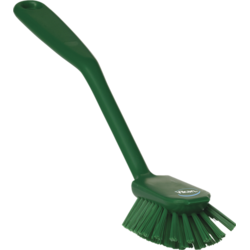 DISH BRUSH 280mm Medium With scraping edge GREEN Vikan