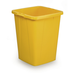 BIN  90L SQUARE YELLOW Plastic