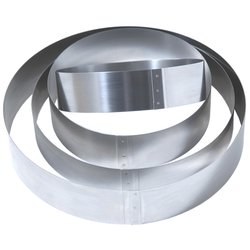 CAKE MOUSSE RING ø150x40mm Stainless steel {Conforms with: EU 1935/2004, EU 2023/2006, EN 1.4310}