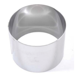 CAKE MOUSSE RING ø60x60mm Stainless steel {Conforms with: EU 1935/2004, EU 2023/2006, EN 1.4310}