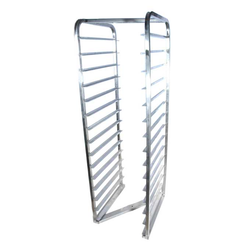 BAKERY RACK TROLLEY for OVEN 45x60 16-rung Z-type Stainless steel CHASSIS no brackets or wheels Rung distance 98mm Rung dimension 30x15x1,5mm