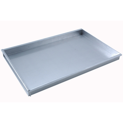 BAKING TRAY 40x60 400x600x40mm Aluminium 1,4mm Removable short side