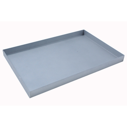 BAKING TRAY 40x60 400x600x40mm Aluminium 1,4mm Nonstick Silicone resin coated RilonHard Grey