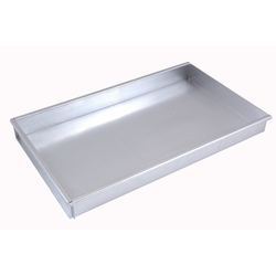 BAKING TRAY 45x30 450x300x50mm Aluminium 1,4mm Removable short side